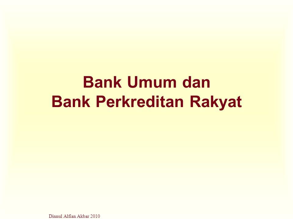 Bank Umum dan Bank Perkreditan Rakyat