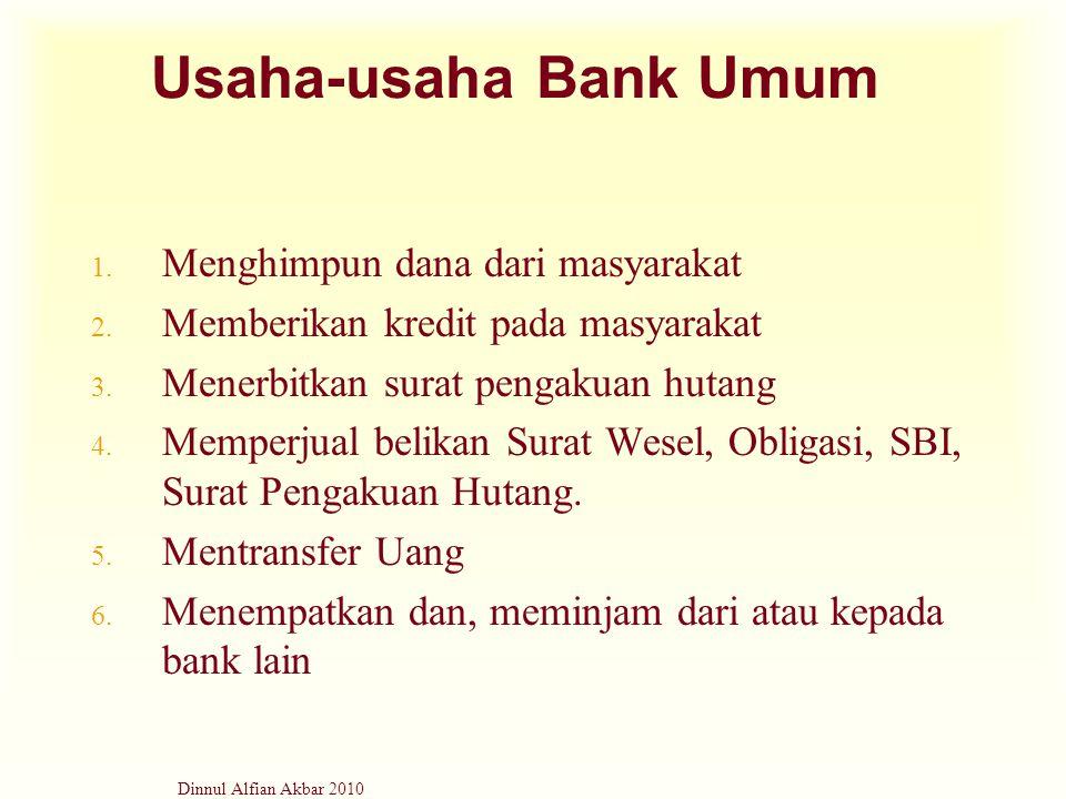 Usaha-usaha Bank Umum Menghimpun dana dari masyarakat