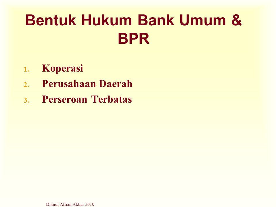 Bentuk Hukum Bank Umum & BPR