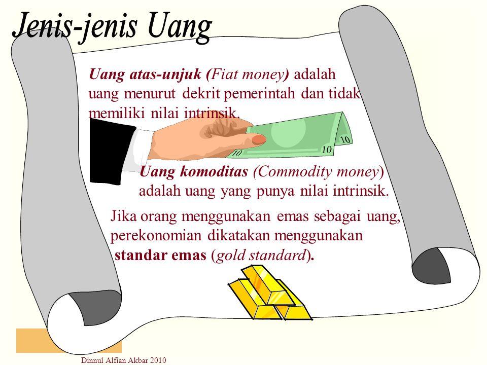 Jenis-jenis Uang Uang atas-unjuk (Fiat money) adalah