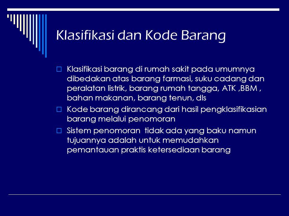 Klasifikasi dan Kode Barang
