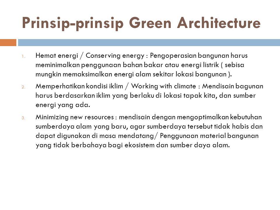 Prinsip-prinsip Green Architecture