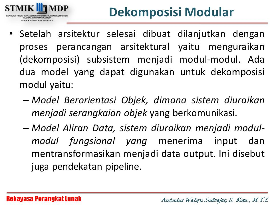 Dekomposisi Modular