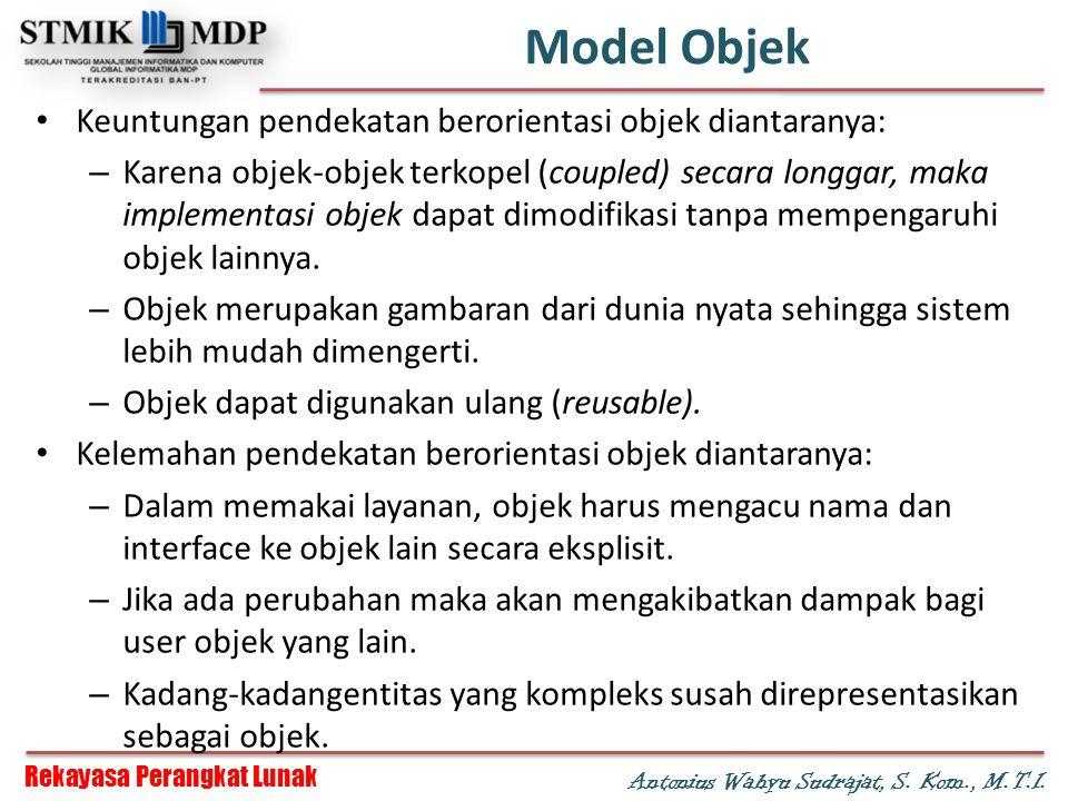 Model Objek Keuntungan pendekatan berorientasi objek diantaranya: