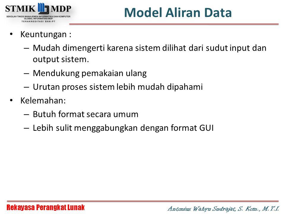 Model Aliran Data Keuntungan :