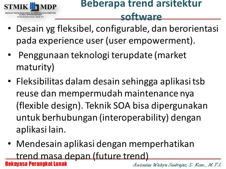 Beberapa trend arsitektur software