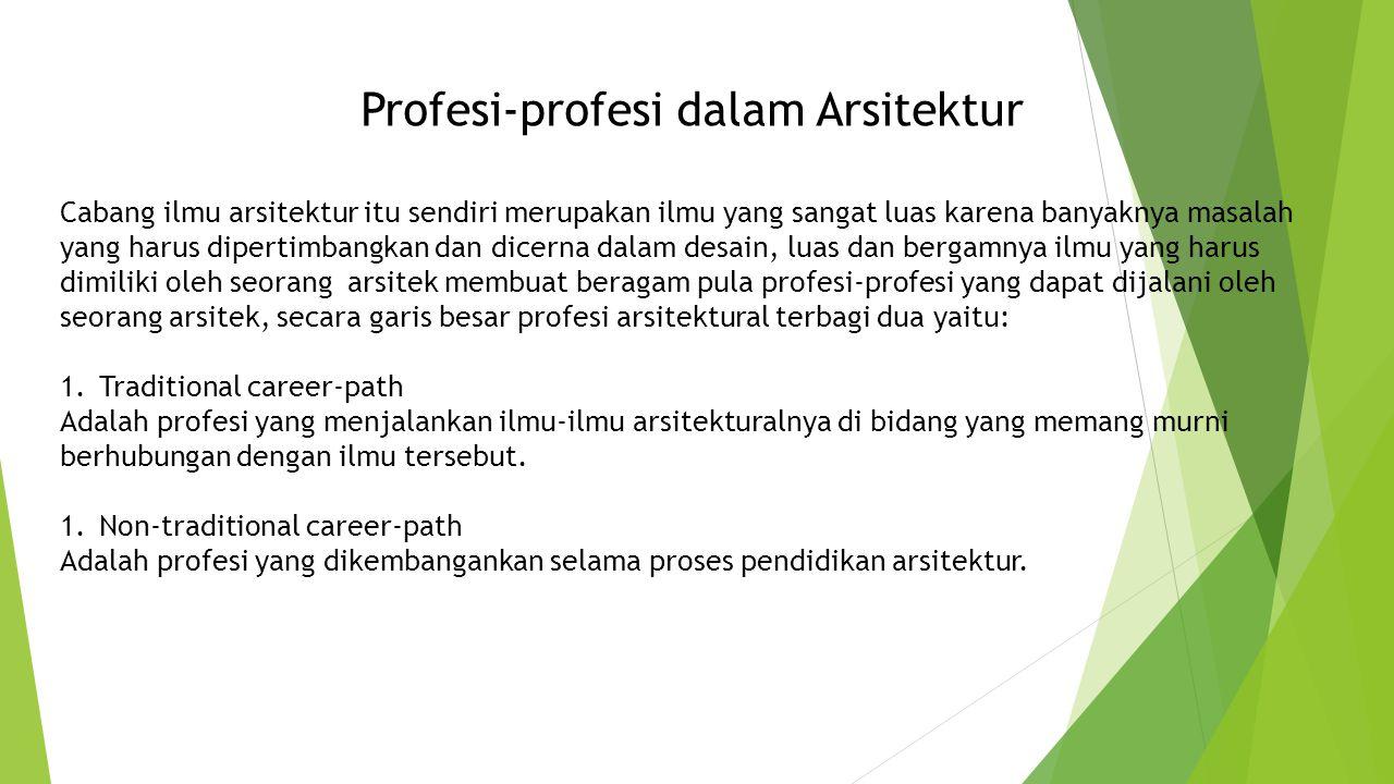 Profesi-profesi dalam Arsitektur