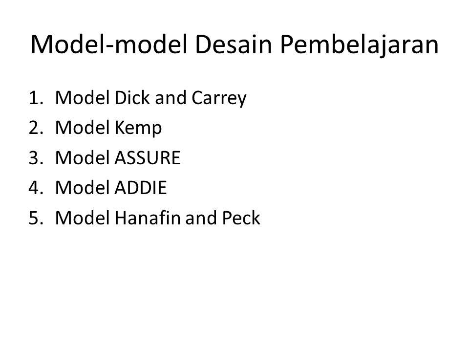 Model-model Desain Pembelajaran