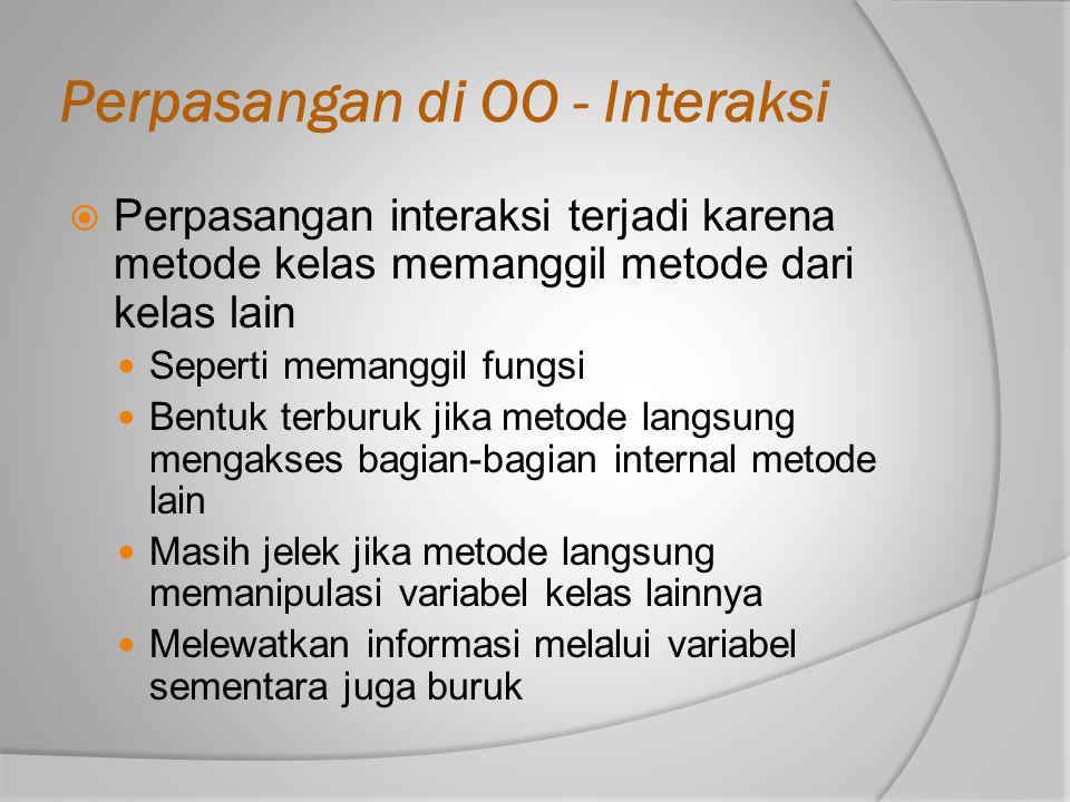 Perpasangan di OO - Interaksi
