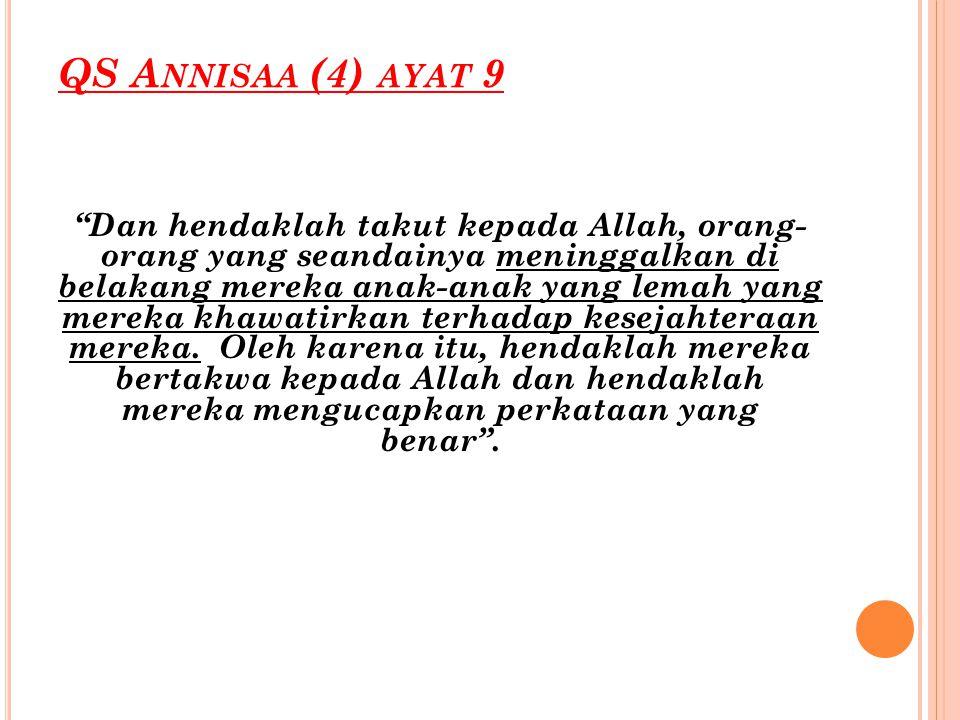 QS Annisaa (4) ayat 9