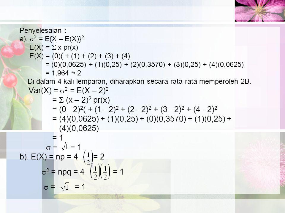 = (0 - 2)2( + (1 - 2)2 + (2 - 2)2 + (3 - 2)2 + (4 - 2)2