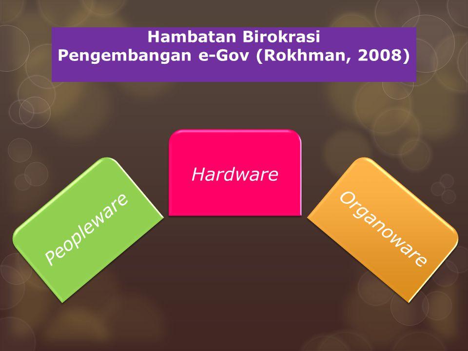 Hambatan Birokrasi Pengembangan e-Gov (Rokhman, 2008)