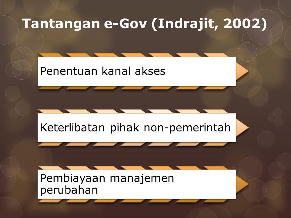 Tantangan e-Gov (Indrajit, 2002)