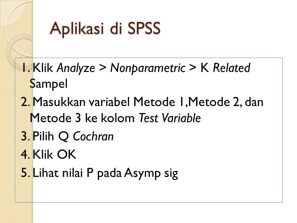 Aplikasi di SPSS
