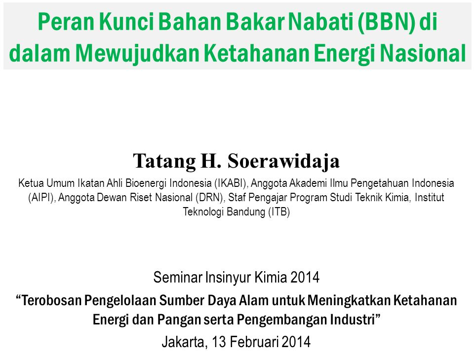 Seminar Insinyur Kimia 2014