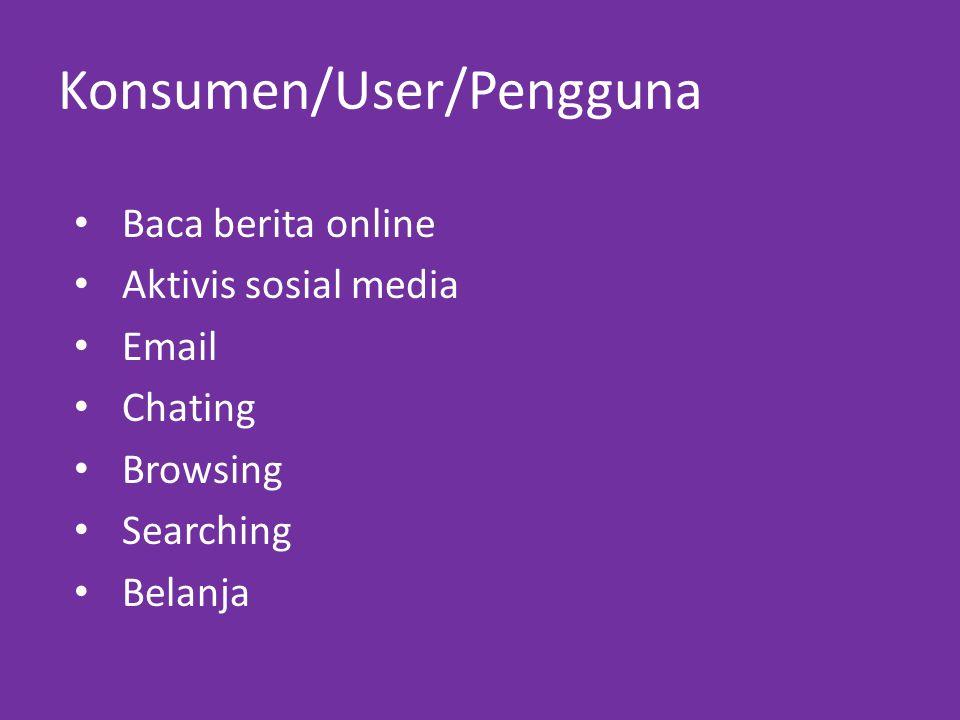 Konsumen/User/Pengguna