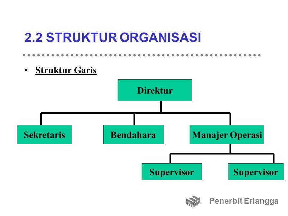 2.2 STRUKTUR ORGANISASI Struktur Garis Direktur Sekretaris Bendahara