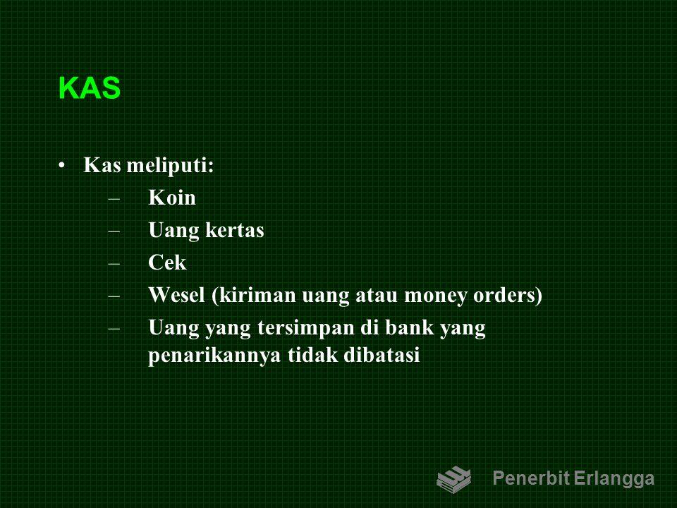 KAS Kas meliputi: Koin Uang kertas Cek