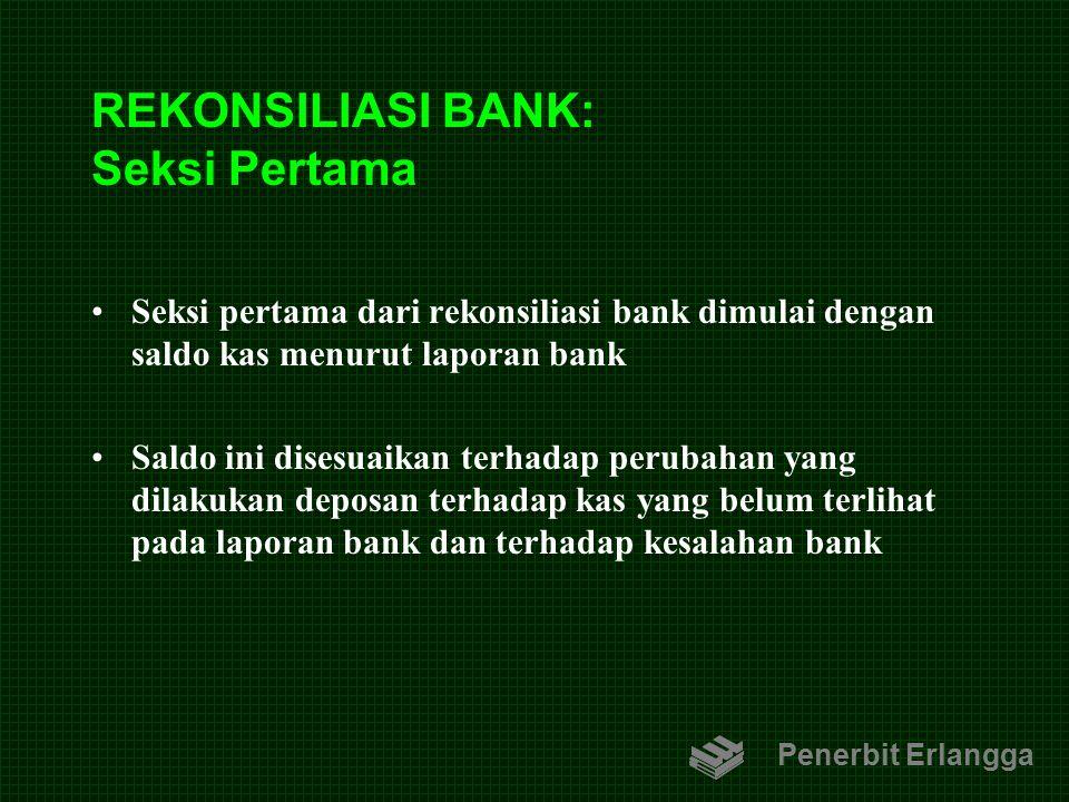 REKONSILIASI BANK: Seksi Pertama