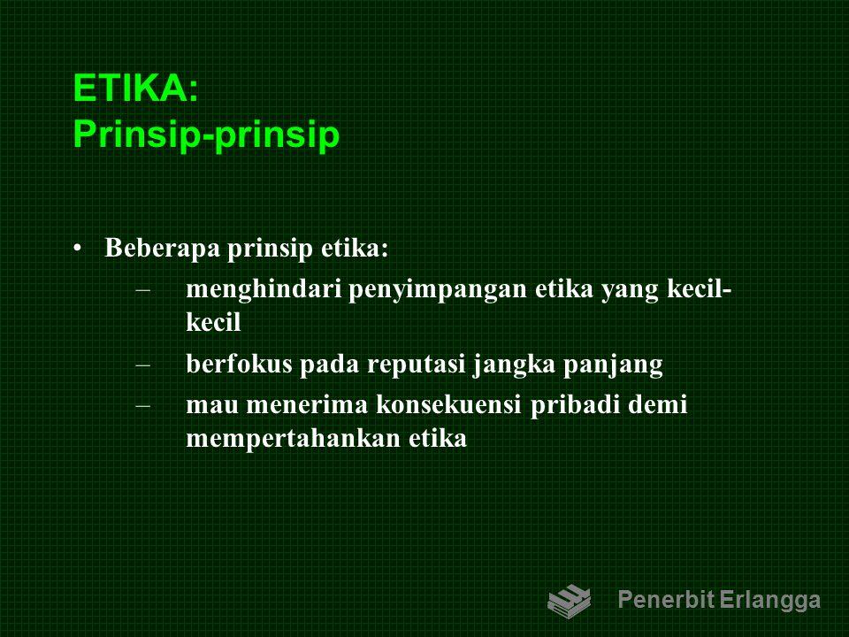 ETIKA: Prinsip-prinsip