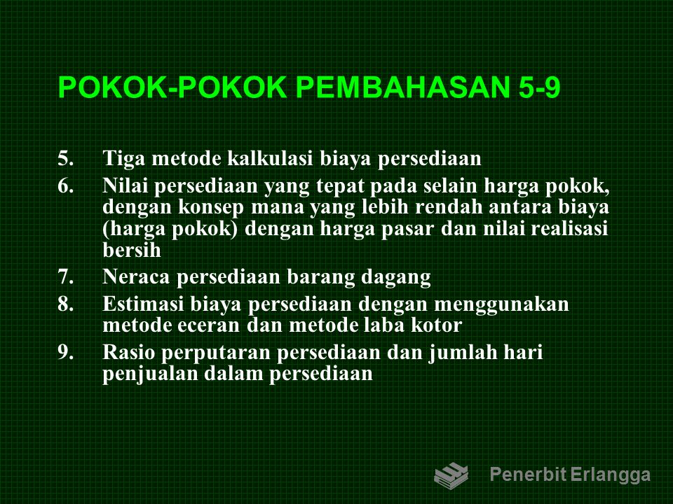 POKOK-POKOK PEMBAHASAN 5-9
