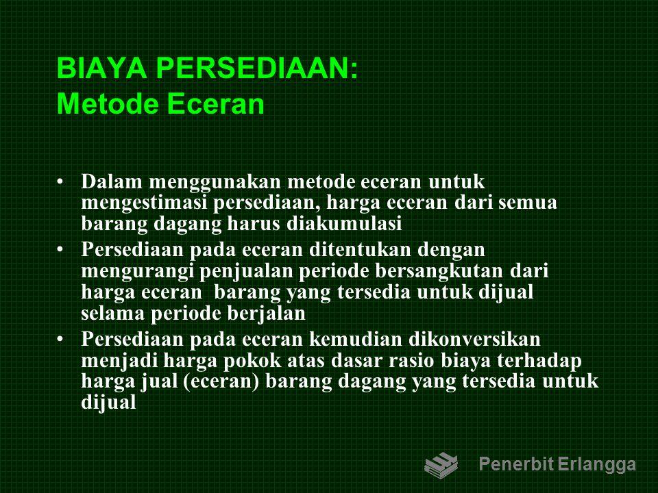 BIAYA PERSEDIAAN: Metode Eceran