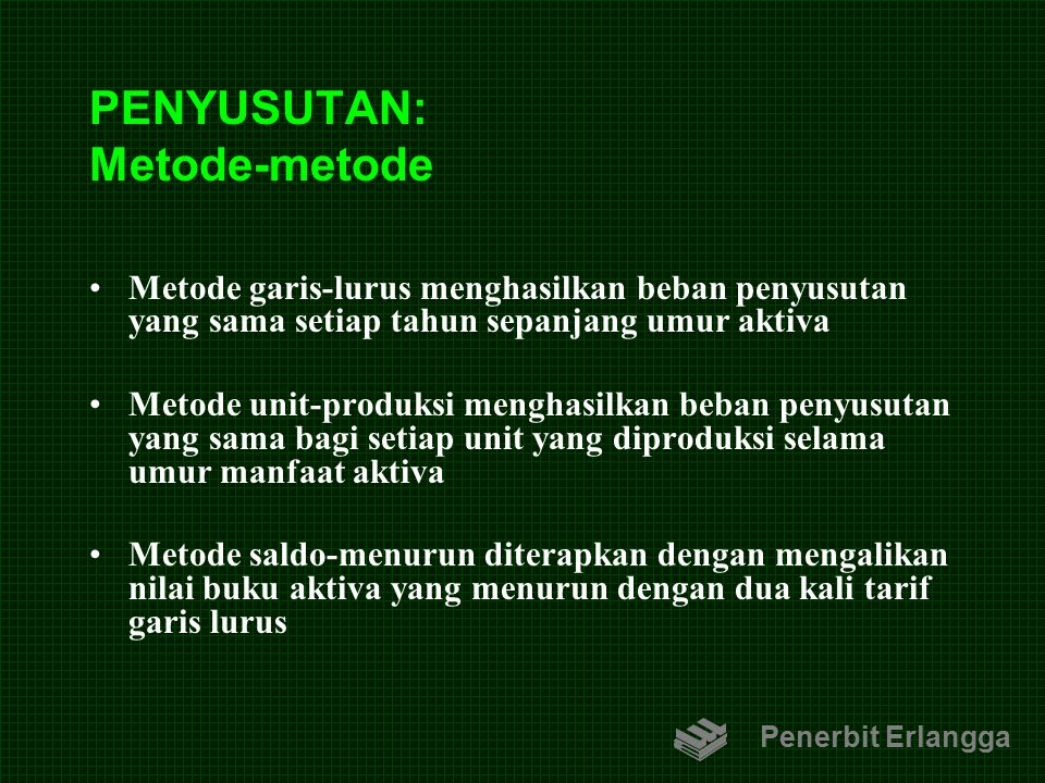 PENYUSUTAN: Metode-metode