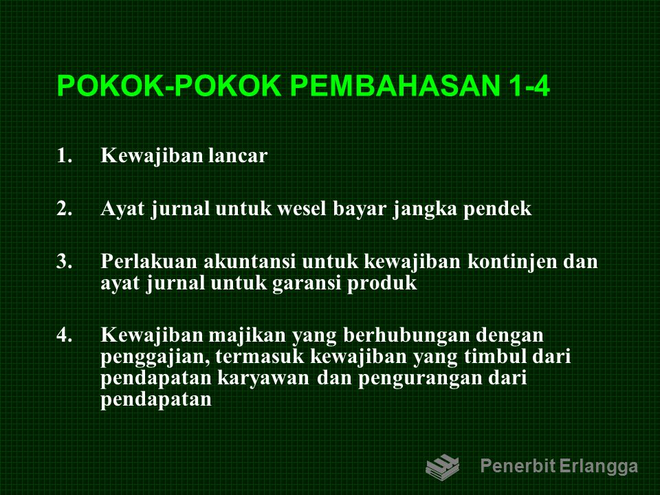POKOK-POKOK PEMBAHASAN 1-4