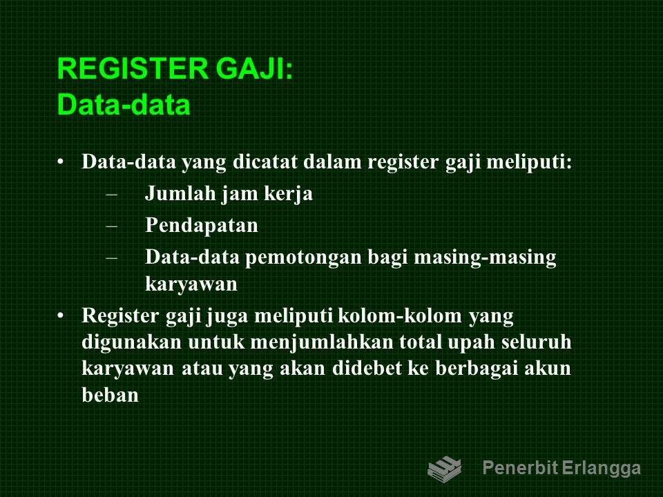 REGISTER GAJI: Data-data