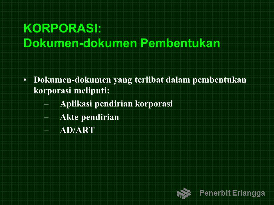 KORPORASI: Dokumen-dokumen Pembentukan