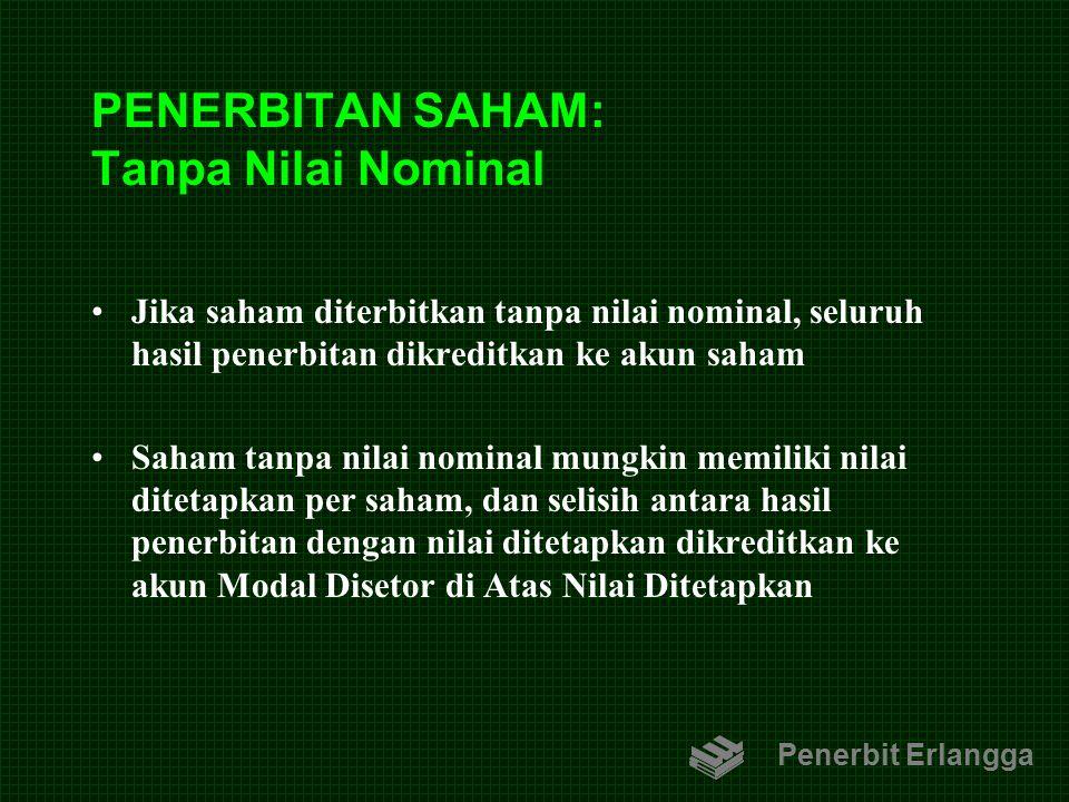 PENERBITAN SAHAM: Tanpa Nilai Nominal
