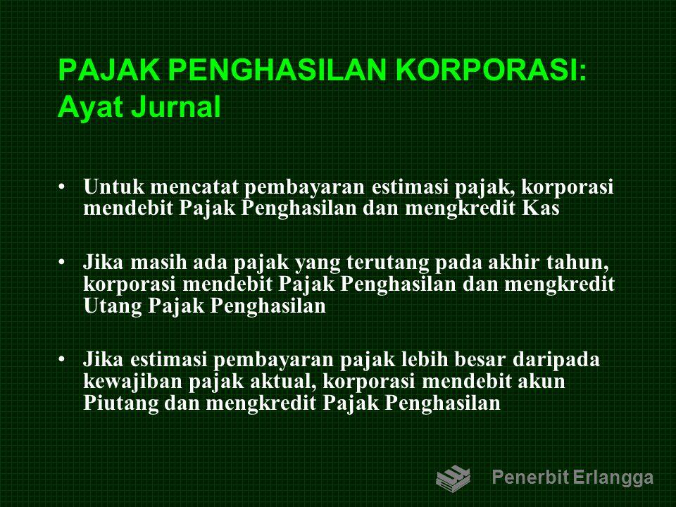 PAJAK PENGHASILAN KORPORASI: Ayat Jurnal