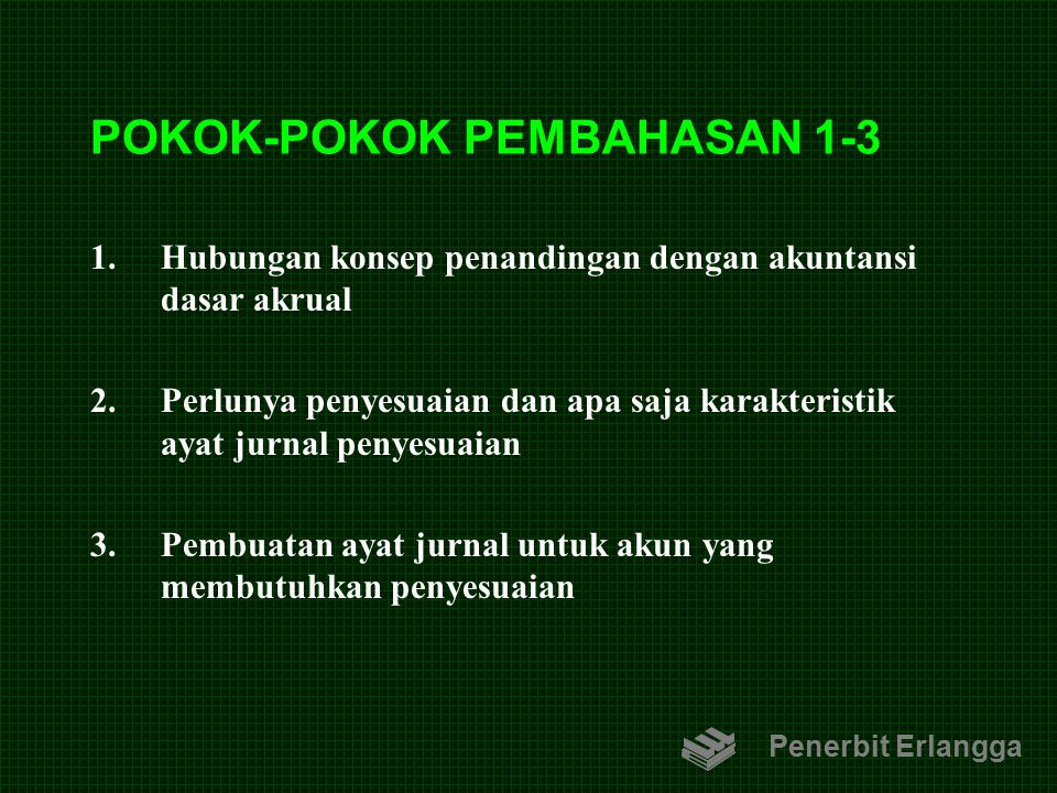 POKOK-POKOK PEMBAHASAN 1-3