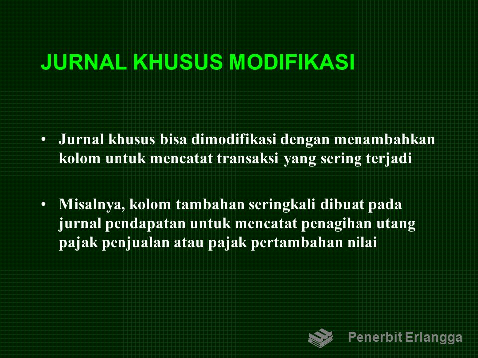 JURNAL KHUSUS MODIFIKASI