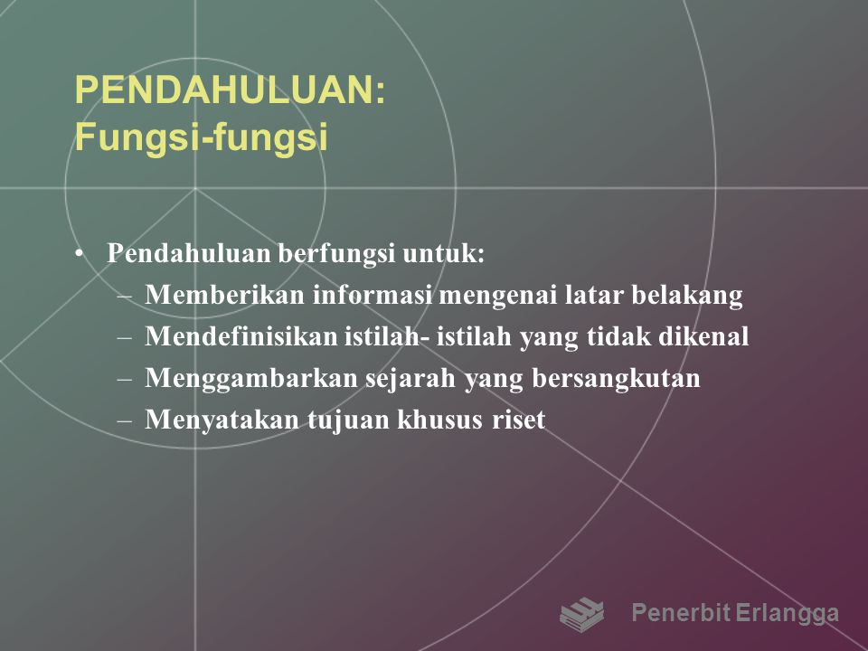 PENDAHULUAN: Fungsi-fungsi