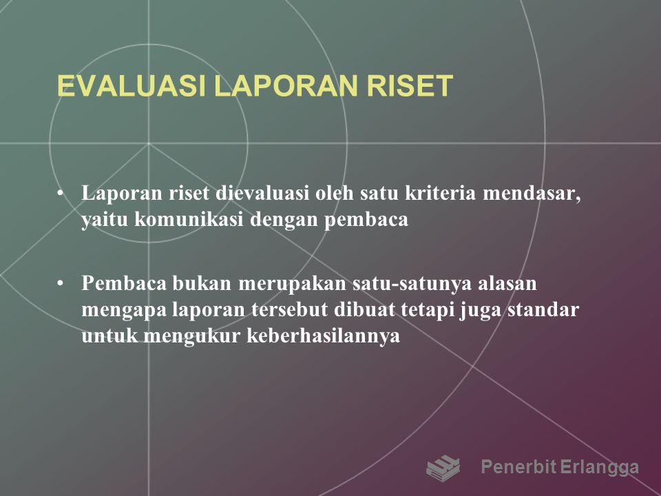 EVALUASI LAPORAN RISET