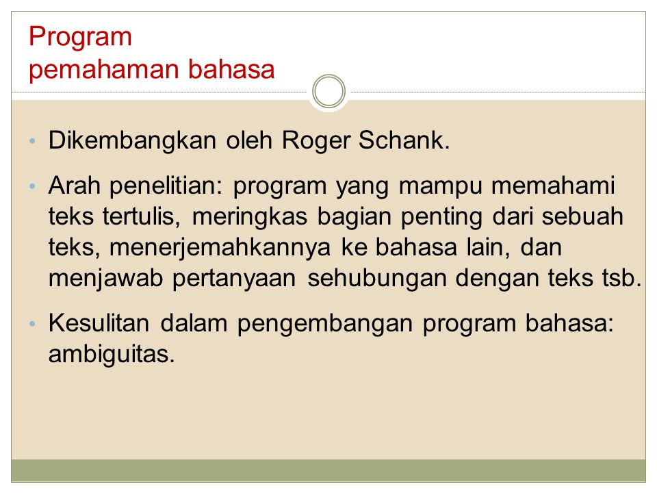Program pemahaman bahasa