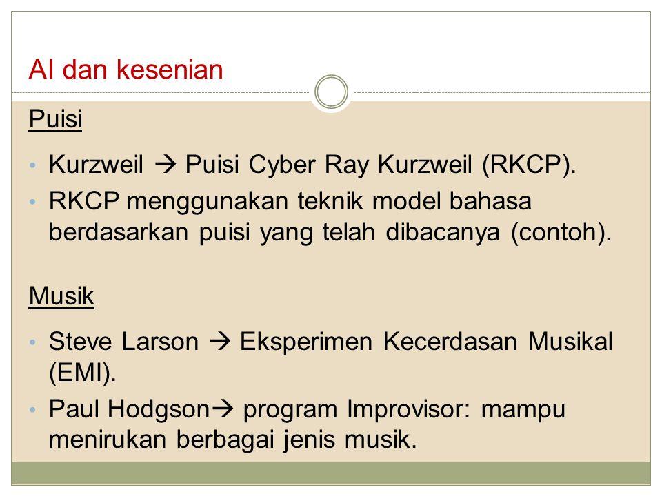 AI dan kesenian Puisi Kurzweil  Puisi Cyber Ray Kurzweil (RKCP).