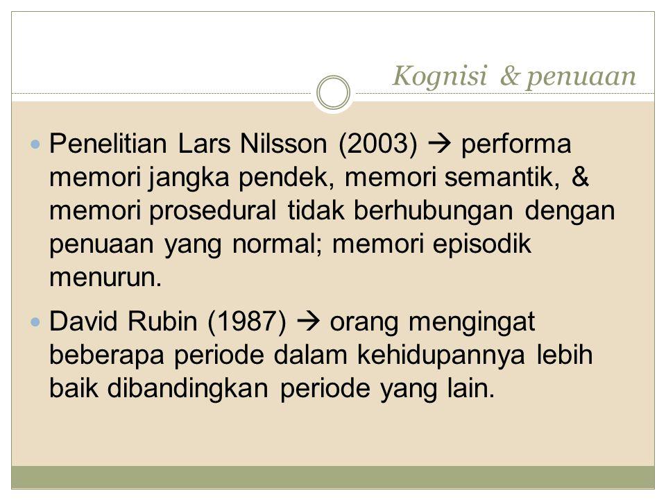 Kognisi & penuaan