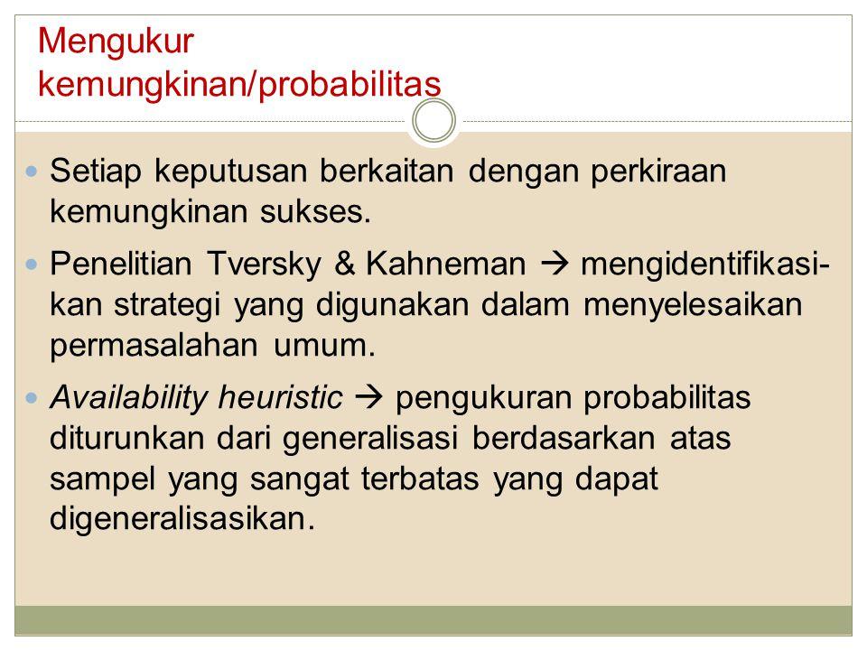 Mengukur kemungkinan/probabilitas