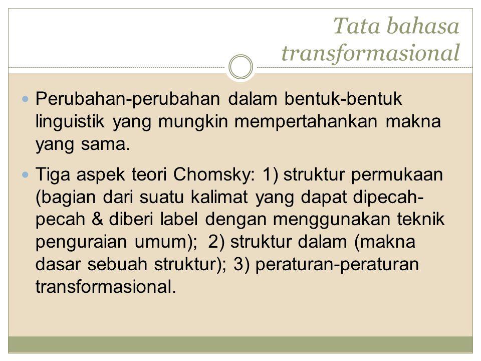 Tata bahasa transformasional
