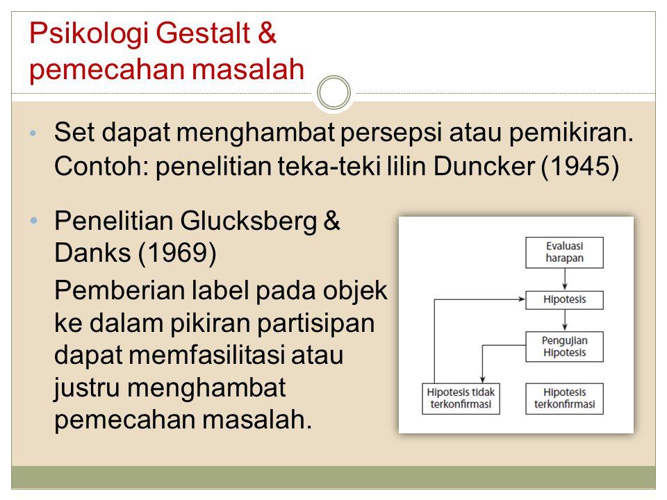 Psikologi Gestalt & pemecahan masalah