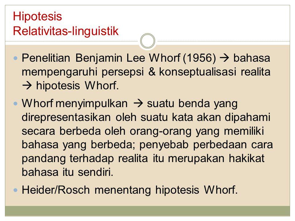 Hipotesis Relativitas-linguistik