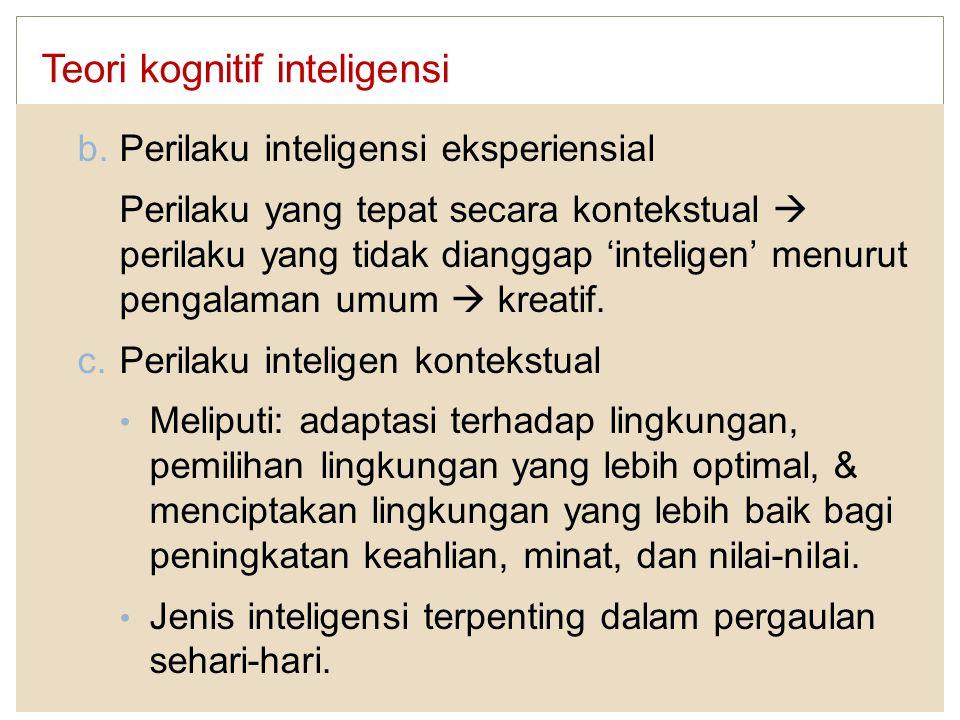 Teori kognitif inteligensi