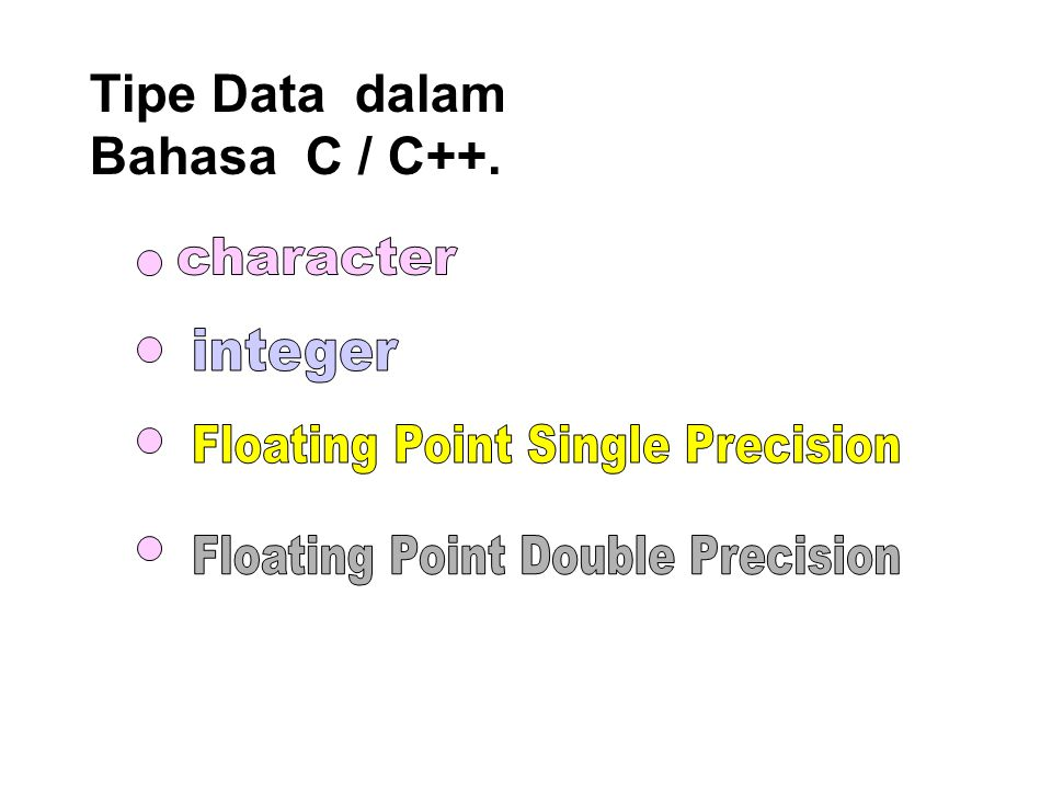Floating Point Single Precision Floating Point Double Precision