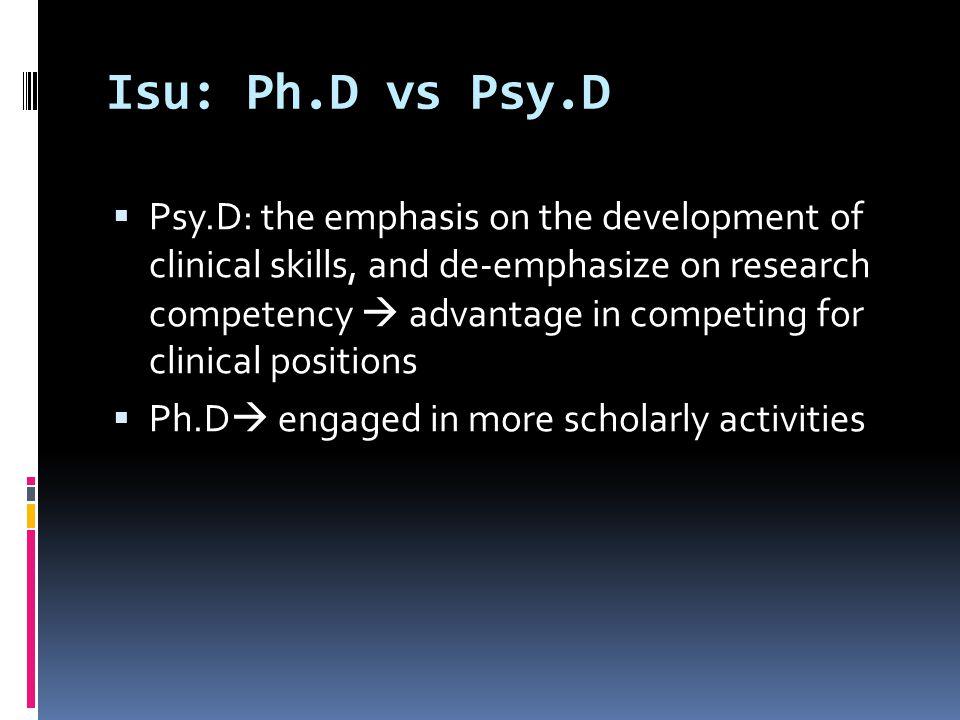 Isu: Ph.D vs Psy.D
