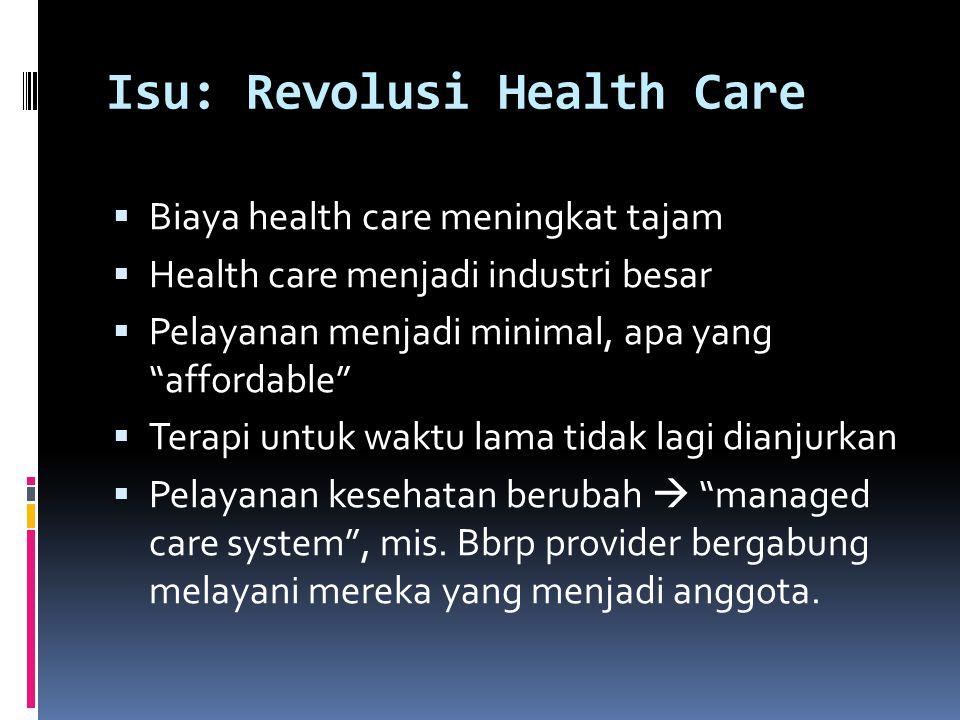 Isu: Revolusi Health Care