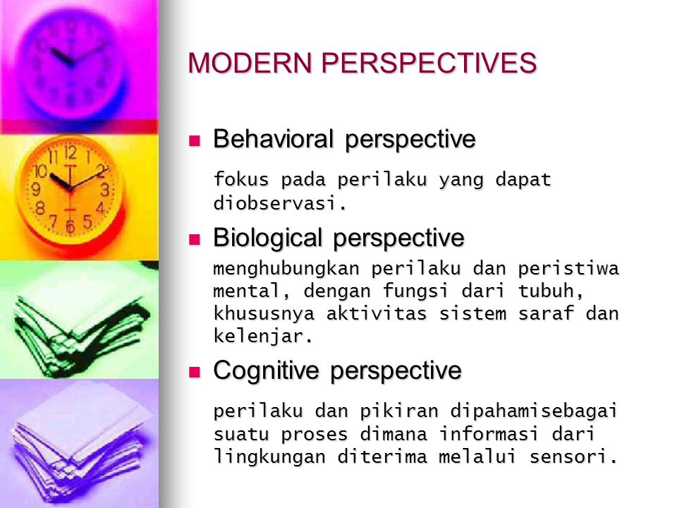 MODERN PERSPECTIVES Behavioral perspective