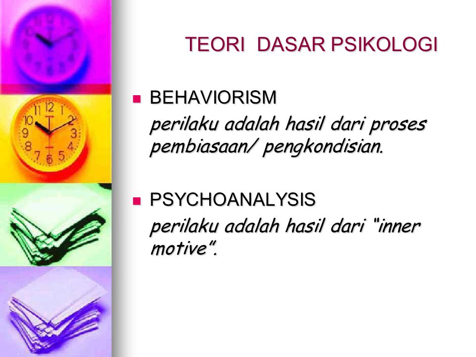 TEORI DASAR PSIKOLOGI BEHAVIORISM