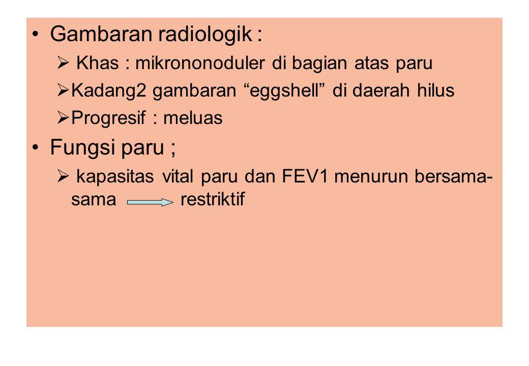 Gambaran radiologik : Fungsi paru ;